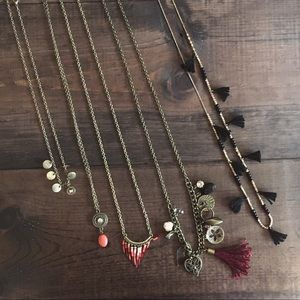 Jewelry - Lot of 5 Gold Necklaces